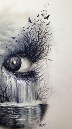 H Ojos Anime, Eye Sketch, Beautiful Drawings, Cool Drawings, Pencil Art, Pencil Drawings, Eye Painting, Eye Art, Cool Artwork