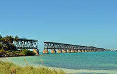 BlondeTravelGirl - Old Railway Bridge, Bahia Honda State Park, Florida, USA