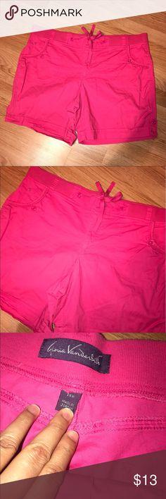 "Gloria Vanderbilt Pink Shorts Great condition. No flaws. Button and zipper closure. Elastic on waist. Inseam 7.5"" Size 26W Gloria Vanderbilt Shorts"
