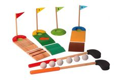Voila - Wooden Golf Set #EntropyWishList #PintoWin  Playing golf just like daddy could bring hours of fun together