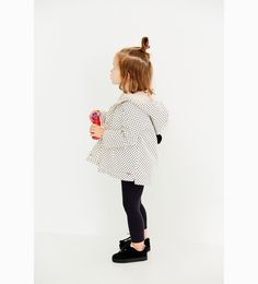 ZARA - KIDS - POLKA DOT RAINCOAT WITH FAUX FUR
