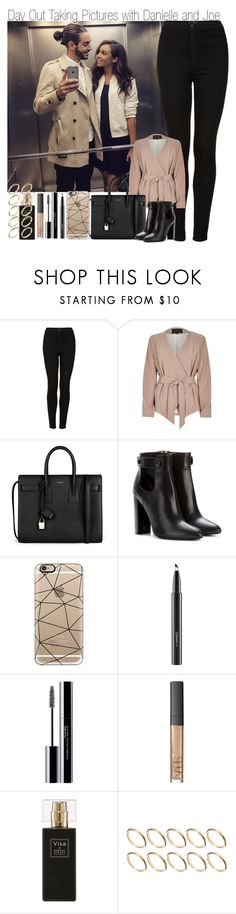 """Day Out Taking Pictures with Danielle and Joe"" by elise-22 ❤ liked on Polyvore featuring Topshop, River Island, Yves Saint Laurent, Tom Ford, Casetify, MAC Cosmetics, shu uemura, NARS Cosmetics, Robert Piguet and ASOS"