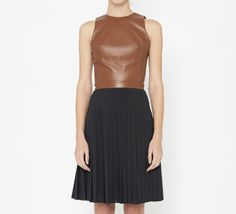 ONE by Wai Ming Brown And Black Dress