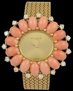 BAUME & MERCIER Diamond & Coral Watch