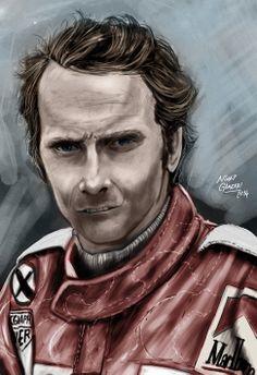 #NikiLauda #FormulaOne #F1 #ScuderiaFerrari by Nihat Gökçen