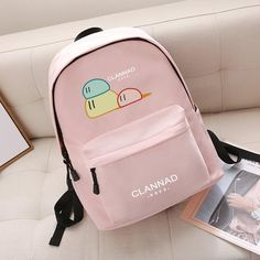 Anime Clannad Korean Cartoon Anime Schoolbag Male and female Student Travel bag Waterproof Backpack Painting Backpack, Canvas Backpack, Backpack Bags, Leather Backpack, Fashion Backpack, Stylish Backpacks, Cute Backpacks, Girl Backpacks, Clannad Anime