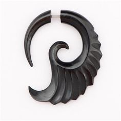 Amazing Craved Fake Hook Horn Earrings - Tribal Jewelry - Horn Jewelry - Spiral Jewelry - Swirl Jewelry - Two Part Earrings - Ethnic Jewelry  Beautiful craved black horn earrings.  Only sold as Pairs!  Earrings length: 40mm $40 Faux Gauges, Fake Gauge Earrings, Tribal Jewelry, Clay Creations, Polymer Clay Jewelry, Horns, Jewlery, Jewelry Accessories, Etsy