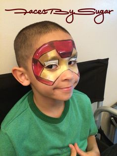 Ironman facepainting