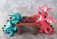 Sculptober: Games by DragonsAndBeasties . - Sculptober: Games by DragonsAndBeastie… on this might possibly be the cutest thing - Polymer Clay Dragon, Polymer Clay Figures, Polymer Clay Sculptures, Cute Polymer Clay, Polymer Clay Animals, Cute Clay, Polymer Clay Projects, Polymer Clay Charms, Polymer Clay Creations