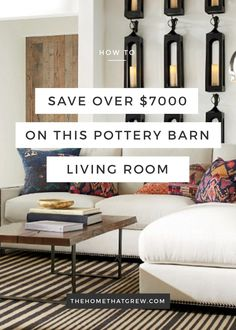 Do you want the Pottery Barn look without the price tag  See how to saveNockeby    Birmingham Apt   Pinterest   Transitional living rooms  . Pottery Barn Inspired Living Rooms. Home Design Ideas
