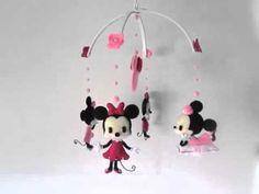 Gracinhas Artesanato: Mobile de berço - Minnie Mouse