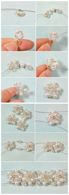 #Beebeecraft ideas on how to make #glassbeaded #bracelet