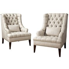 """EmersonBentley Style: 7017-01 - Davino Tufted Wing Chair Finish: Must Specify Overall Dimensions: Width: 28 1/2"""" Depth: 36 1/2"""" Height: 43 1/2"""" Inside Dimensions: Width: 20"""" Depth: 23"""" Arm Height: 23 1/2"""" Seat Height: 20"""" Pillow(s):(1) Kidney"""