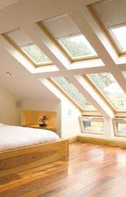 Supplier and installer of Velux windows throughout the South East. We can also help with roof terraces, Velux blinds, solar hot water systems and more. Attic Master Bedroom, Attic Bedrooms, Bedroom Loft, Attic Bathroom, Bedroom Windows, Skylight Bedroom, Shower Bathroom, Bathroom Doors, Kids Bedroom