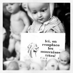 Vintage doll shop by Thévy Guex http://instagram.com/thevyguex#