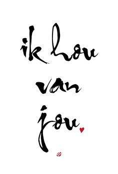 #LostBumblebee ©2014 Ik you van jou - I love you - Free Printable Personal Use Only #Dutch
