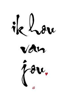 #LostBumblebee ©2014 Ik you van jou - I love you - Free Printable Personal Use Only #Dutch