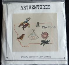 SOLD!  Cross Stitch State of MONTANA Brand Artventures Complete Kit #Artventures