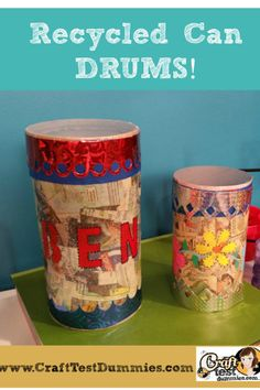 Recycle Craft: Cardboard Tube Drums
