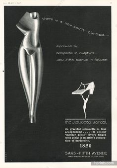 Saks Fifth Avenue (Shoes) 1927 Raymond Loewy, Alexander Archipenko in Sculpture…