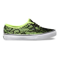 Vans Lace Authentic in Neon Yellow