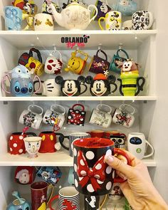 Best Picture For Disney Home Decor etsy For Your Taste You are looking for something, and it is goin Disney Coffee Mugs, Cute Coffee Mugs, Cute Mugs, Coffee Cups, Disney Tassen, Coffee Mug Display, Disney Cups, Disney Rooms, Disney Home Decor