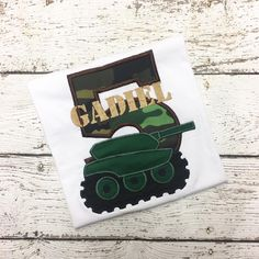 Personalized Army Tank Birthday Design