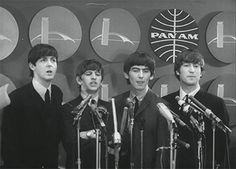 Today's Document: The Beatles Come to America  The Beatles ham it up...
