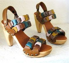 Handmade Clog Shoe Lacey Leather Link CUSTOM ORDER by karenkell, $250.00