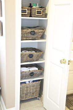 1000 Images About Organize Bathroom On Pinterest Linen Closets Linen Closet Organization