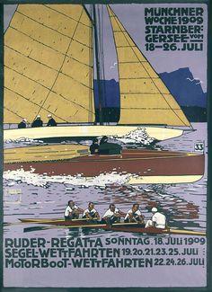 1909 LUDWIG HOHLWEIN RUDER REGATTA