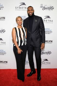 4a22999366be Honoree LeBron James and wife Savannah Brinson attend the 2016 Sports.