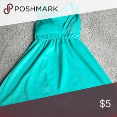 Mint green summer dress Mint green dress with bow on back. o' sher Dresses Strapless