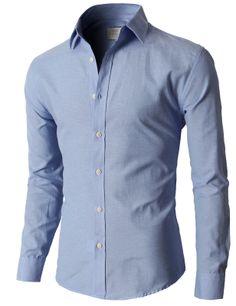 Doublju Premium Slim Fit Designed Button-down Shirts (KMTSTL0218 ...