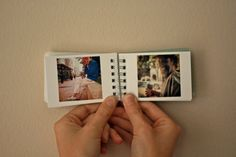 Hand made street photography book The Morning by BrandonKaes, $20.00  Perfect idea for your own instax mini photos