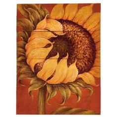 """To make you smile everyday! Brightly colored painting on """"four individual canvases"""" that combine to make a stunning, oversized Tuscan sunflower. Tuscan Sunflower Canvas Painting"""