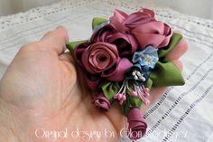 Joyas y bisutería de novia - Broche Sissi-bouquet vintage - hecho a mano por gloria-60 en DaWanda