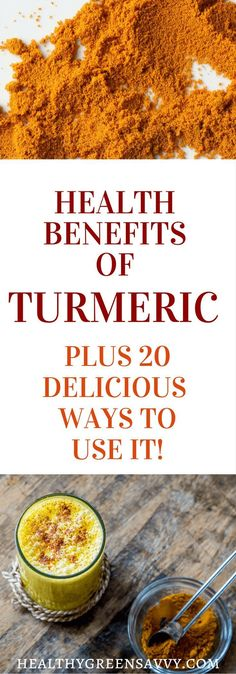 Health benefits of turmeric -- Find out about the amazing health benefits of turmeric and why you should be eating plenty of this powerful antioxidant. Plus more than 20 tempting recipes! Click to read more or pin to save for later. |Turmeric health benefits | Turmeric recipes | Anti-inflammatory foods |
