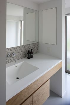造作洗面化粧台 Bathroom Toilets, Laundry In Bathroom, Washroom, Bathroom Layout, Bathroom Interior Design, Home Building Design, House Design, Bathroom Splashback, Mini Bad