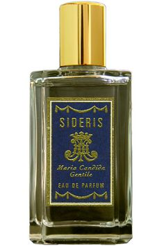 Sideris by Maria Candida Gentile is a warm, woody Aromatic Spicy fragrance with top notes that include labdanum, saffron, incense, myrrh, and pepper.  In the middle is Sideritis/Greek Mountain Tea.  The base is sandalwood, benzoin, woody notes and beeswax. - Fragrantica