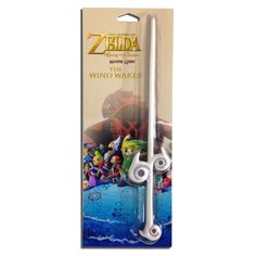 Wind Waker Baton - The Wind Waker Baton is a life-size magical conductor's baton first introduced to fans in The Legend of Zelda: The Wind Waker game. Manufactured by esteemed toy maker MANA Studios, the solidly resin wand measures just over 14 inches long.