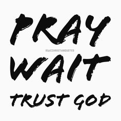 Pray. wait. trust God  . #thankyouJesus #prayer #forgiveness #christianquotes #thankGod #Jesusculture #verseoftheday #biblequote #havefaith #faithful #teamjesus #biblequotes #amentothat #biblestudy #jesuscalling  #christians  #photooftheday #encouragement #lovejesus  #newyorkcity #jesussaves #bibleverse #jesusislord #instagood #churchflow #souls#quotesdaily #jesuslovesyou . . .  @son_of_god424 @cchristianquotes  @spiritual.reminders @twine_app_forchrist @arise_and_shine @christianposts…