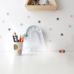 Gwiazdki Mini - dekornik - Naklejki na ścianę Toothbrush Holder, Stars, Mini, Creative, Inspiration, Etsy, Salmon, Wall Clings, Bubbles