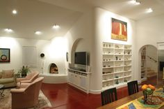 I  like the kiva which is blended seamlessly into the wall.   Sabet-Wood Residence  http://www.hartmanbaldwin.com