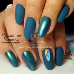 Teal Nail Enamel with Designs