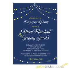 engagement party invitation - DIY printable file by YellowBrickStudio on Etsy, $17.60