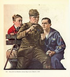 print Norman Rockwell Story of the Lost Battalion buy 2 get one free