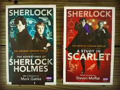 Sherlock Holmes book covers with Benedict Cumberbatch and Martin Freeman!