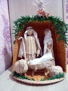 Новости Christmas Baskets, Christmas Crafts, Diy Weihnachten, Basket Weaving, Ladder Decor, Nativity, Gingerbread, Diy And Crafts, Fiber