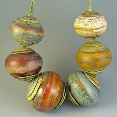 Lampwork Focal Bead Set By wandering spirit designs (Aja) Really love this!